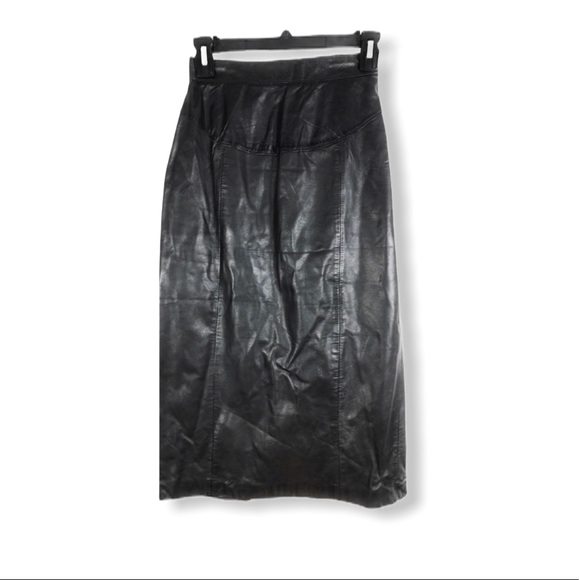 New York Classics Vintage Leather Skirt